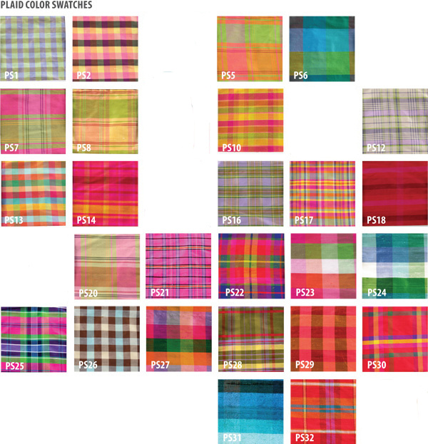 silk plaid color choices