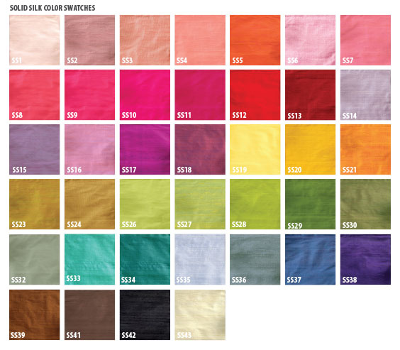 silk color choices - CLICK TO ENLARGE