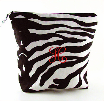 Zebra linen lingerie bag by Objects of Desire