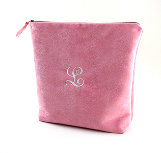 personalized faux suede lingerie bag by Objects of Desire