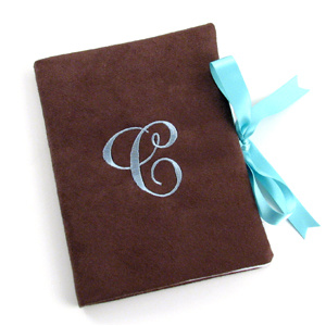 personalized faux suede photo album