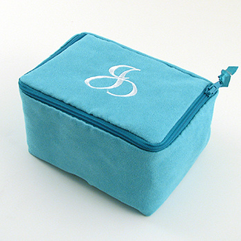 personalized faux suede jewelry case by Objects of Desire