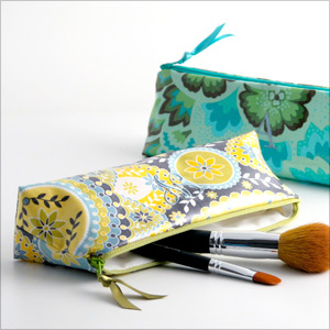 personalized laminated print cosmetic brush bag by Objects of Desire