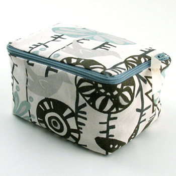 personalized printed cotton jewelry case by Objects of Desire