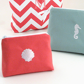 Personalized Faux Suede Cosmetic Bags by Objects of Desire